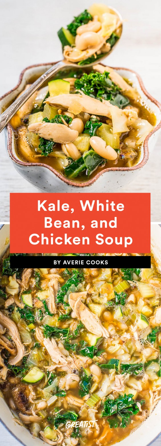 Kale, White Bean, and Chicken Soup
