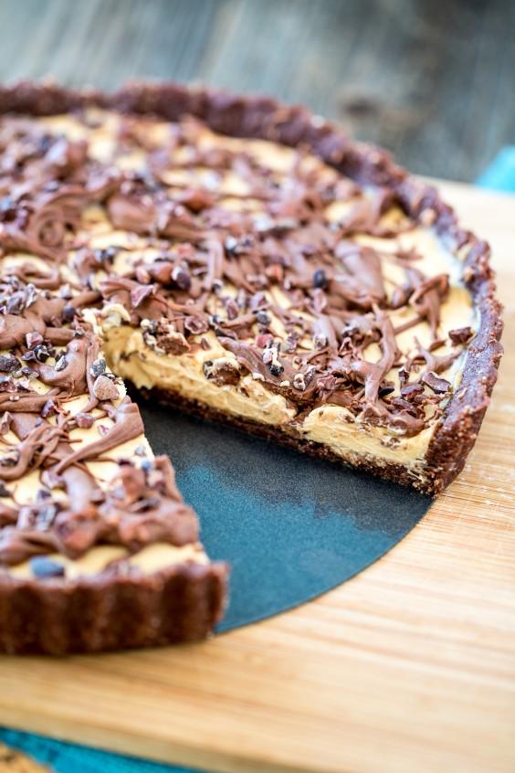 14. No-Bake Chocolate Peanut Butter Tart