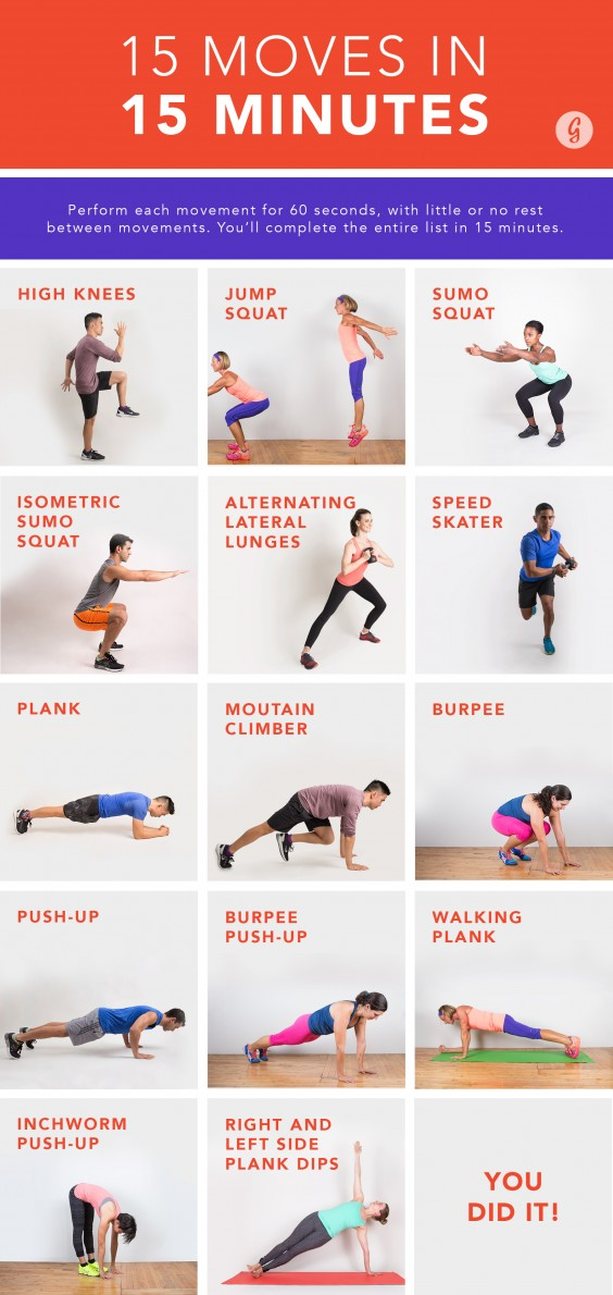 15 Moves in 15 Minutes Workout
