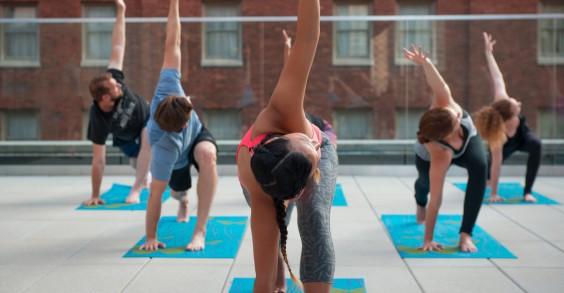 Kimpton Hotel Employees Doing Yoga