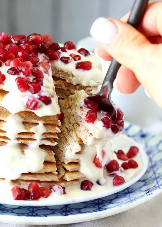 9. Greek Yogurt Oat Pancakes