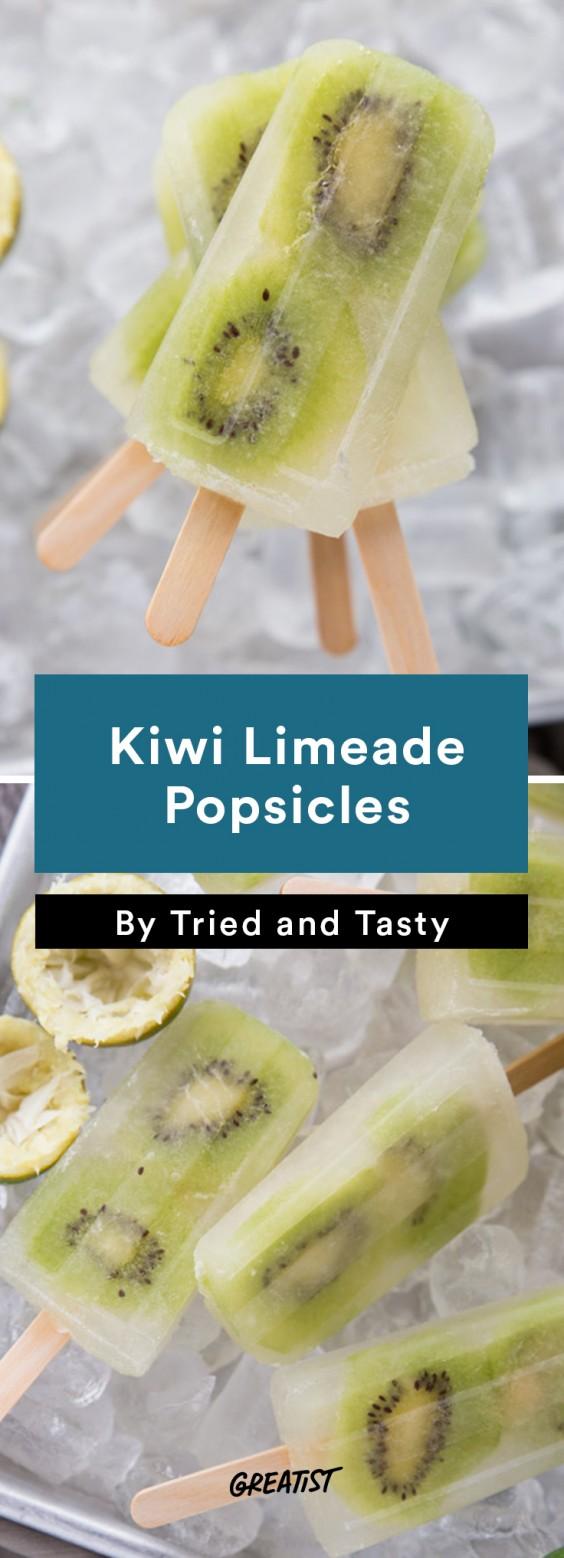 Popsicles: Kiwi Limeade