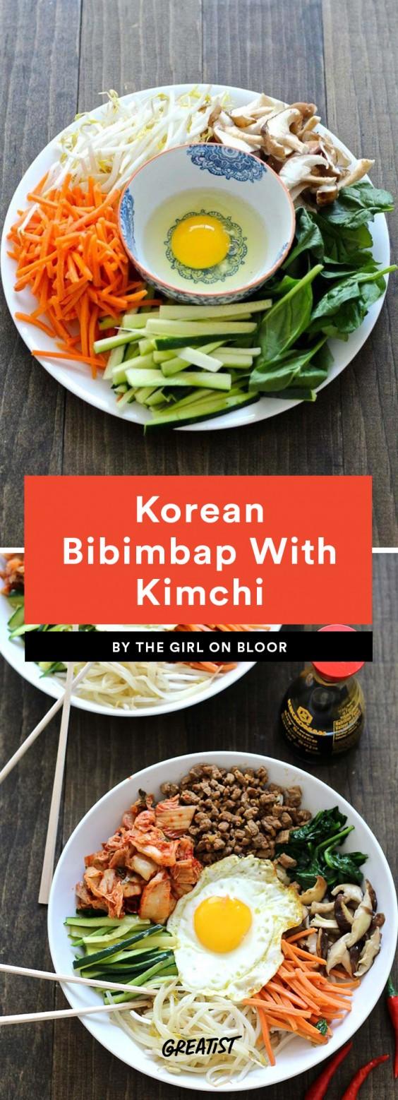 Korean Bibimbap With Kimchi Recipe