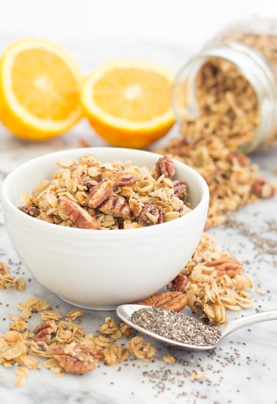 Homemade Granola Recipes: Orange Chia Granola