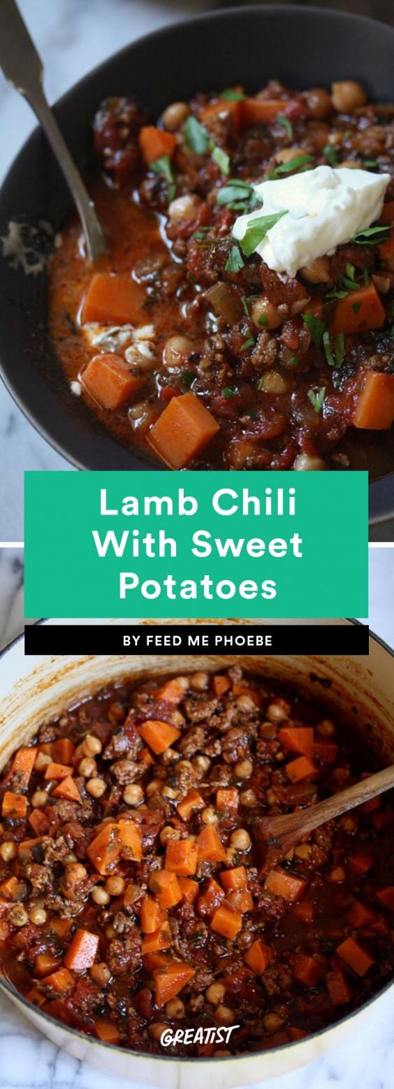 Lamb Chili With Sweet Potatoes