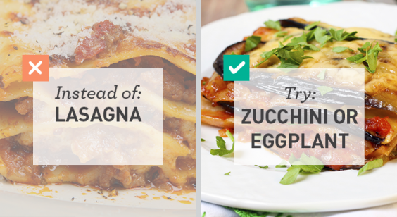 Simple Swaps for Lower Carbs: Zucchini or Eggplant Lasagna