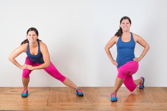 Lateral Lunge to Curtsy Lunge