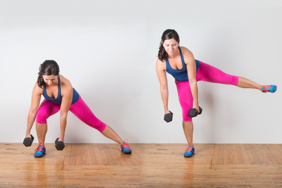 One-Legged Lunge with Lift