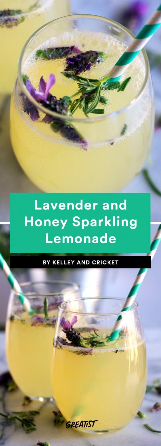 Lavender and Honey Sparkling Lemonade