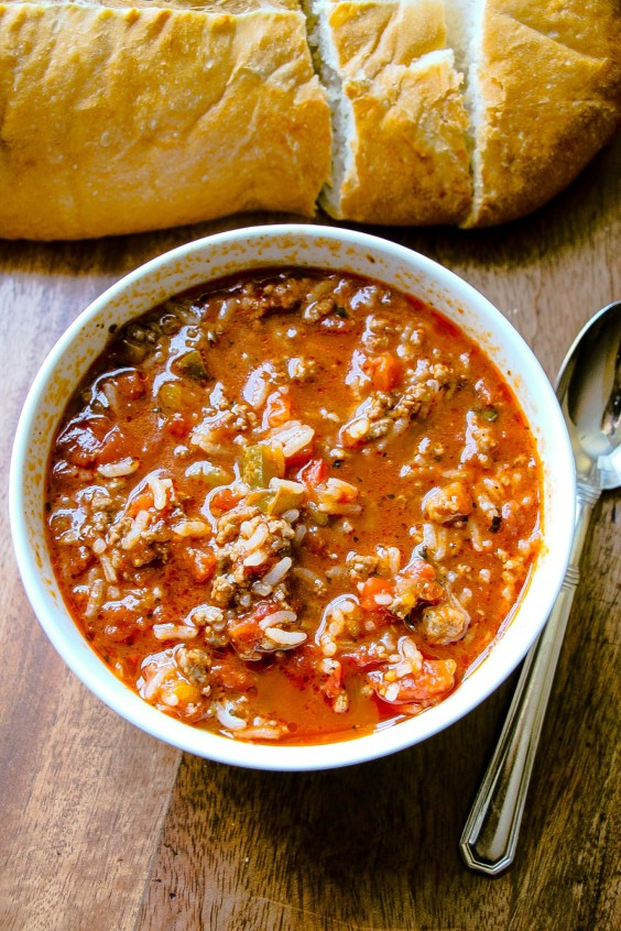 Ground Beef Recipes: Stuffed Pepper Soup