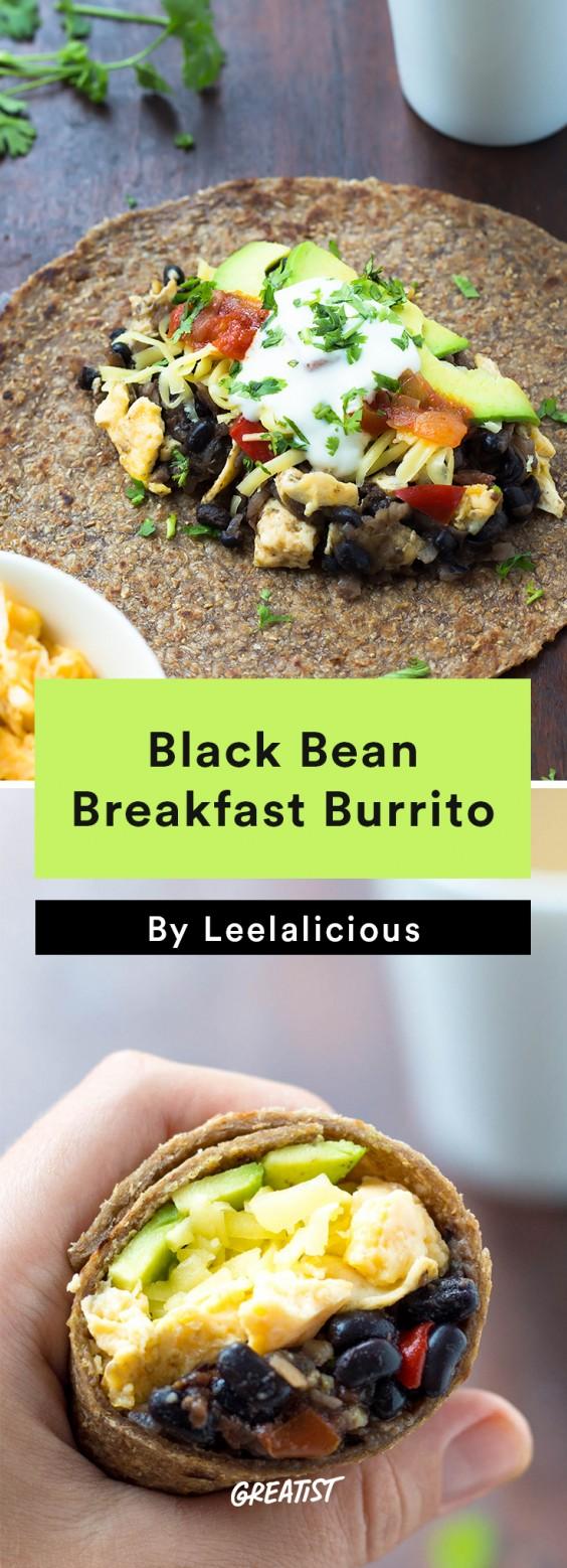 Scrambled Egg Recipes: Black Bean Breakfast Burrito