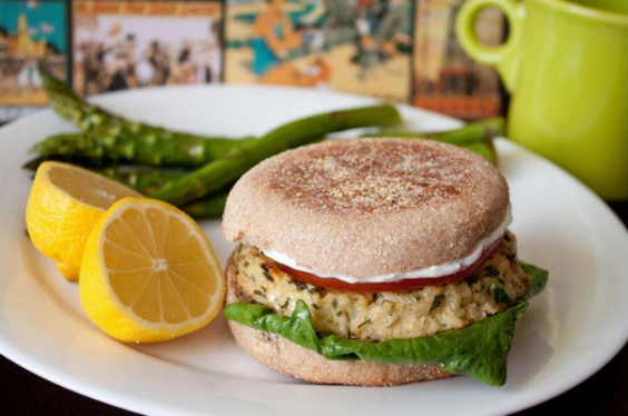 Lemon Tuna Burger