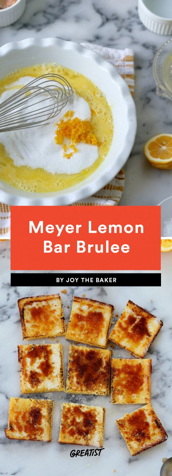 Meyer Lemon Bar Brulee