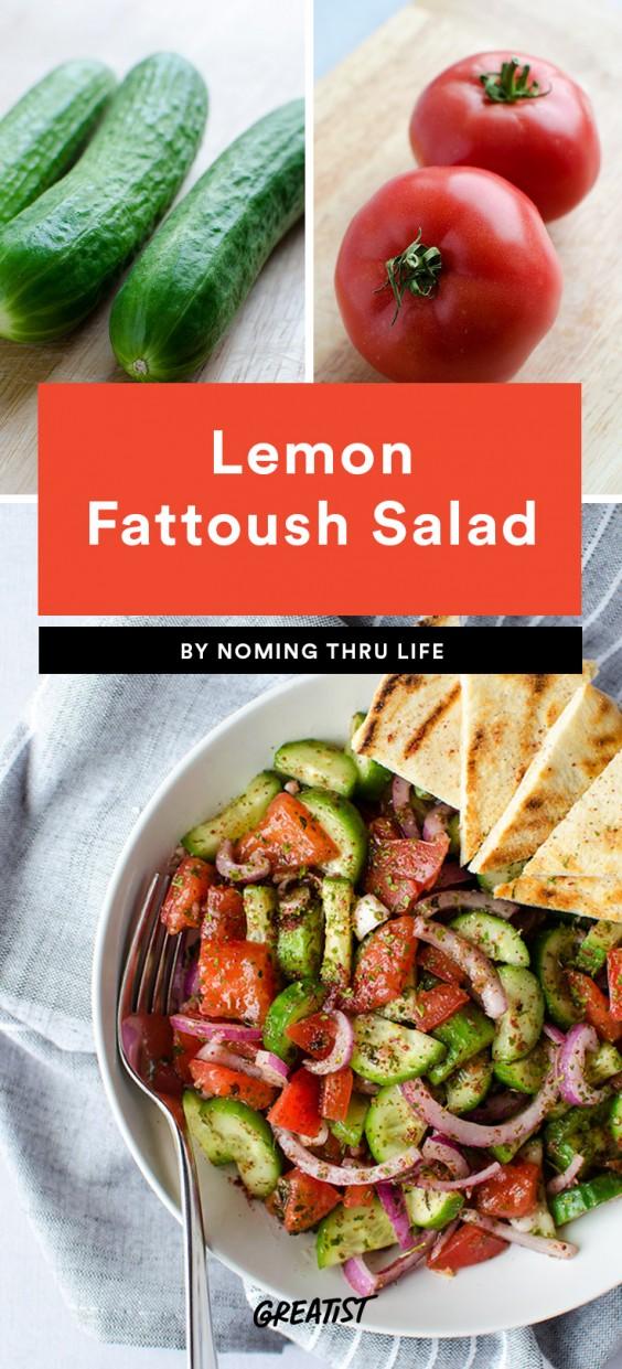 Lemon Fattoush Salad