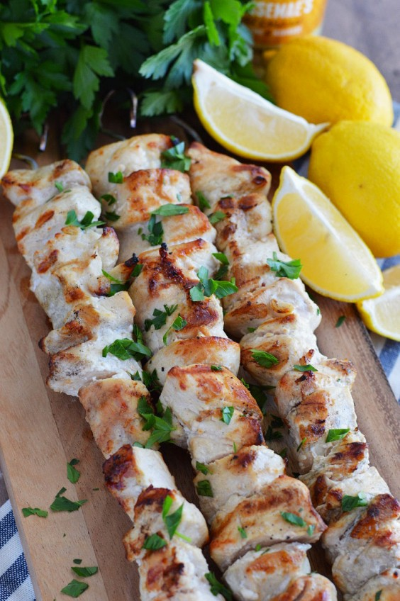 Paleo Snacks: Lemon Garlic Chicken Skewers