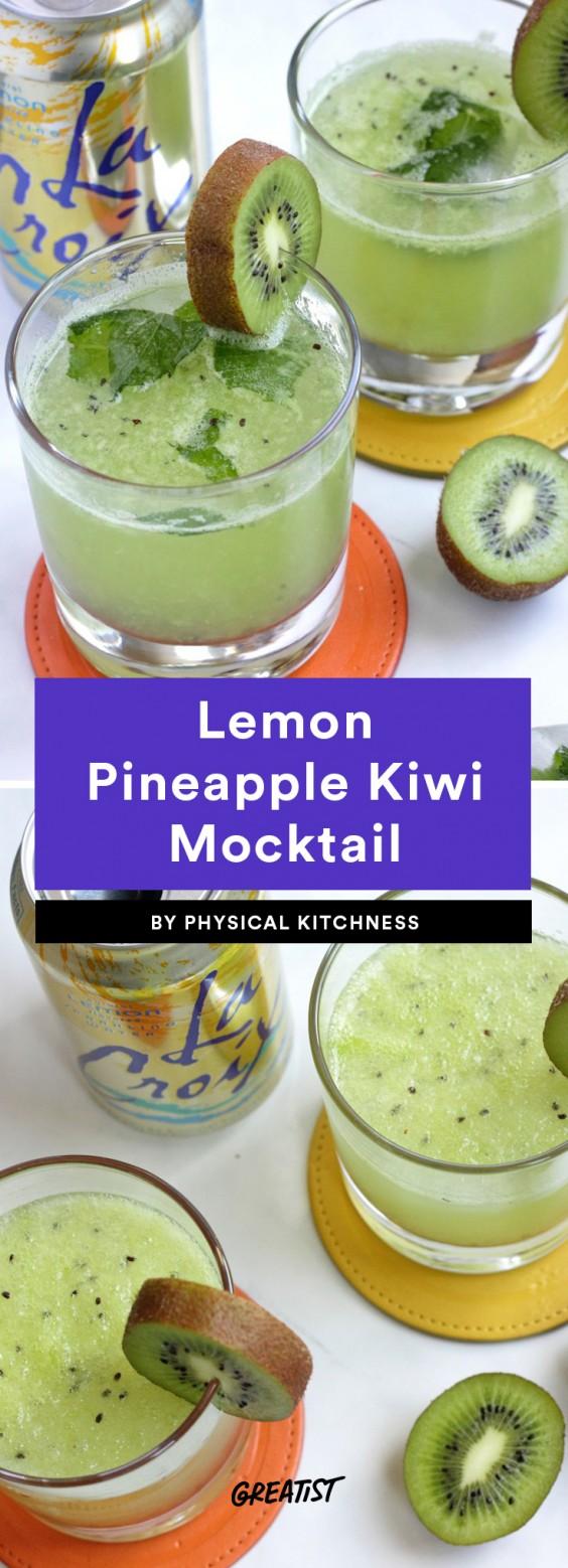 Lemon Pineapple Kiwi Mocktail