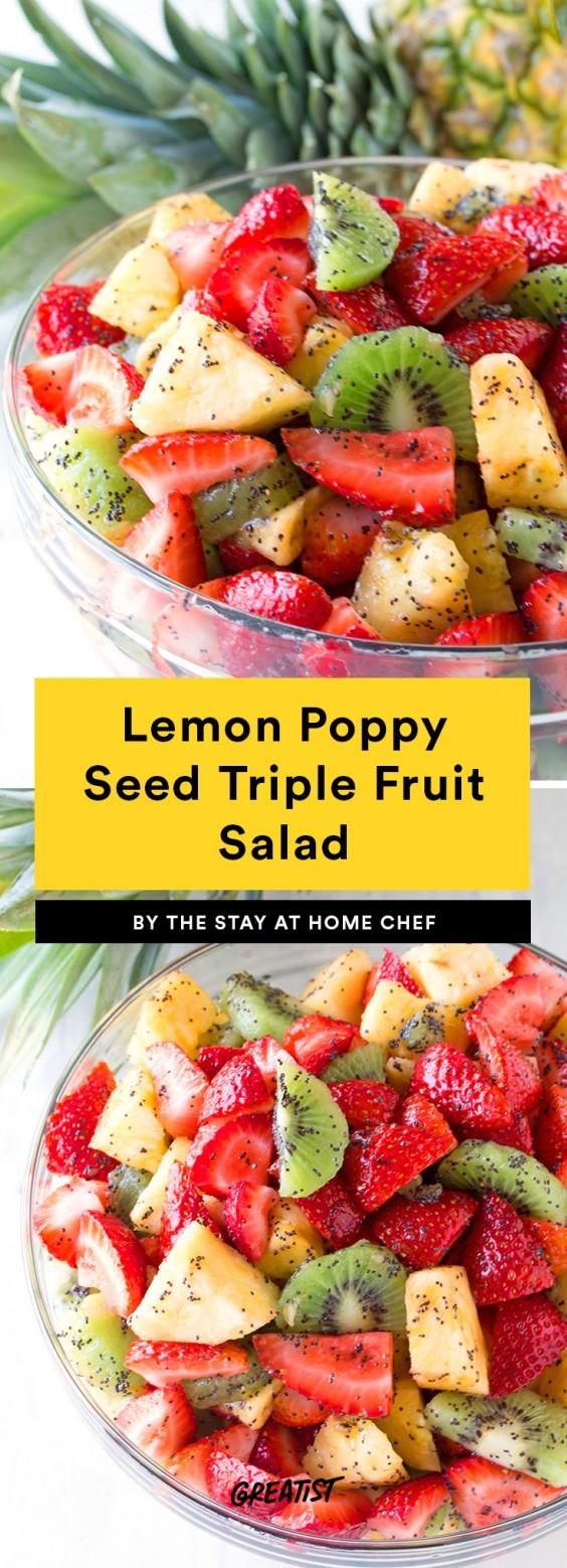 Lemon Poppy Seed Triple Fruit Salad