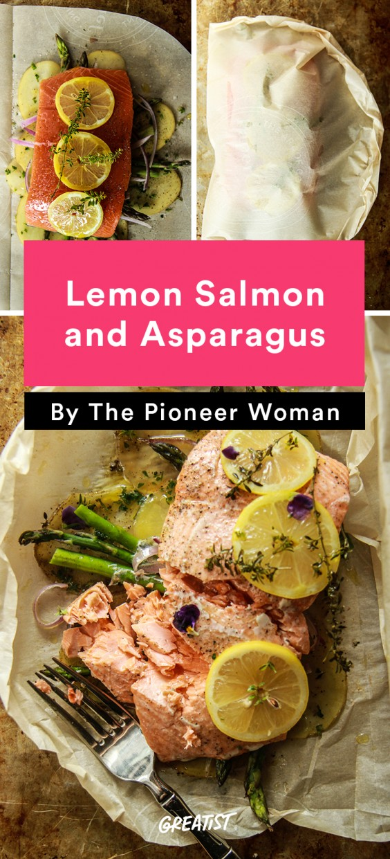 Lemon Salmon and Asparagus En Papillote Recipe