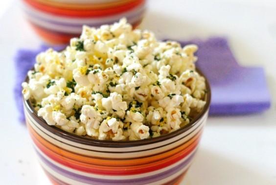 Lemony Kale Popcorn