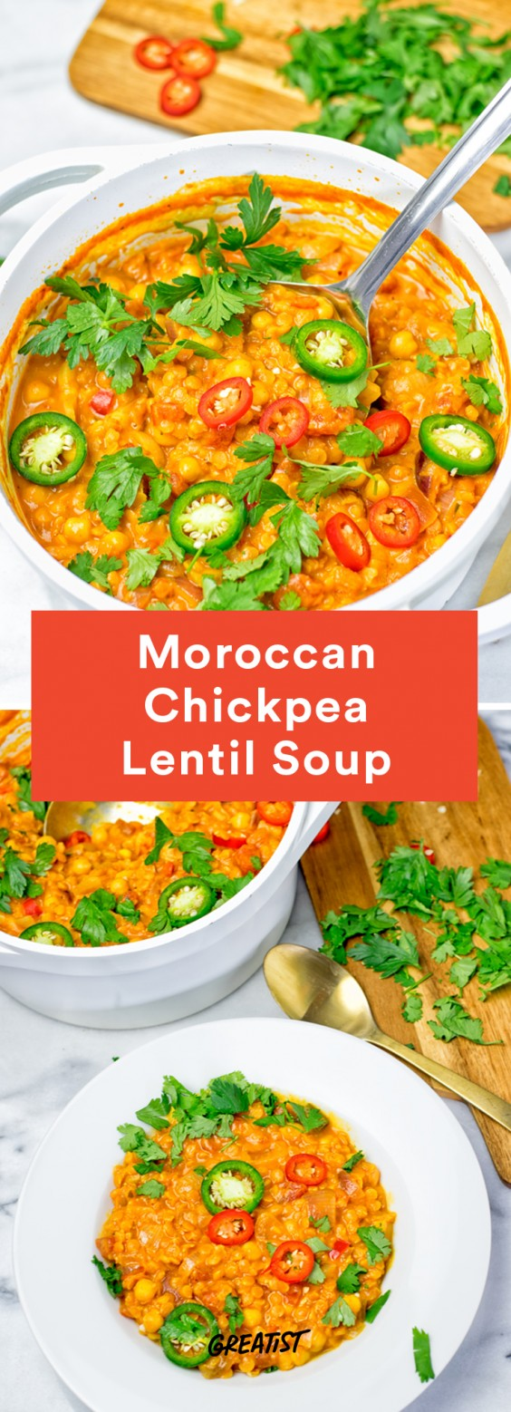 Moroccan Chickpea Lentil Soup