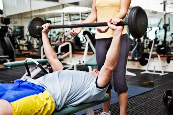 How to Choose a Personal Trainer: Weightlifting spot