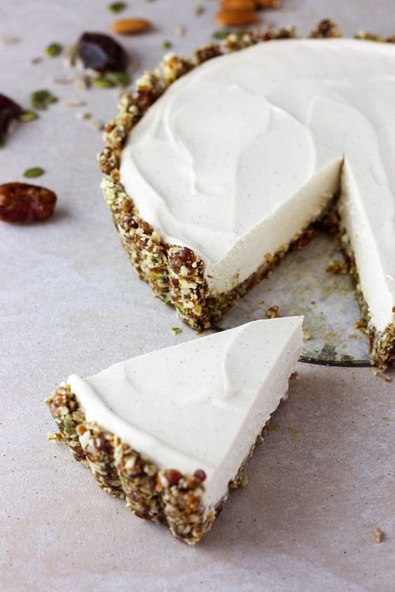 Tofu Recipes: Lime and Vanilla Vegan Cheesecake