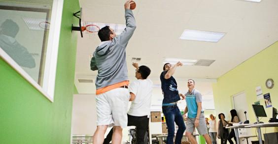Limeade Employee Basketball Game