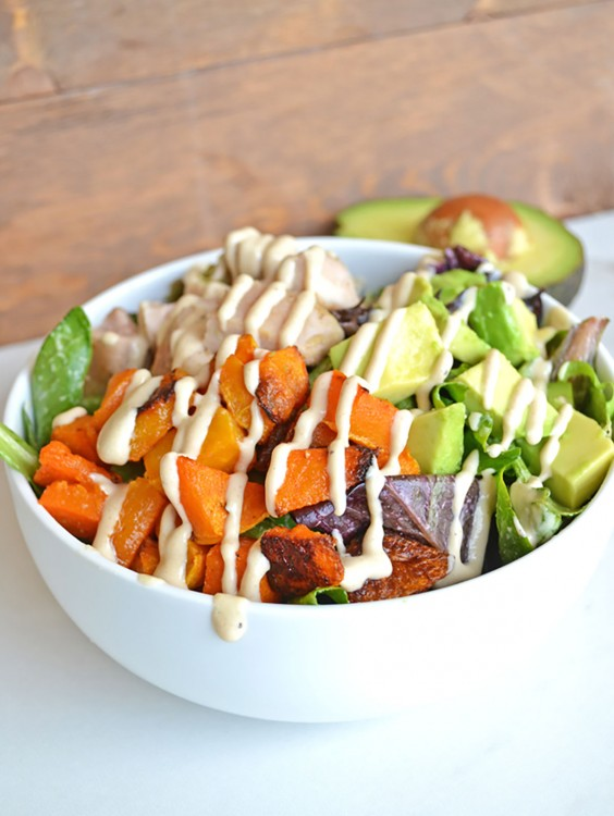 Whole30 dinner recipes 21 easy and delicious meals greatist whole30 dinner recipes chicken balance bowl forumfinder Choice Image