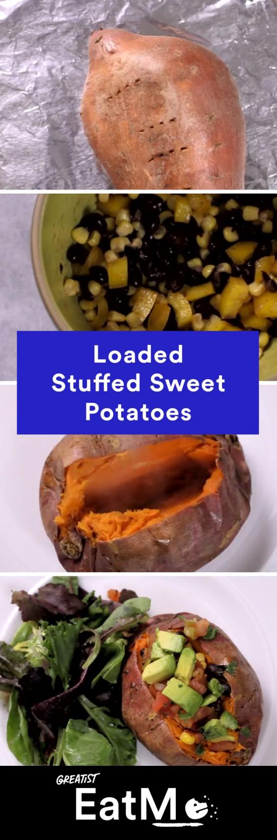 Eat Me Video: Stuffed Sweet Potatoes