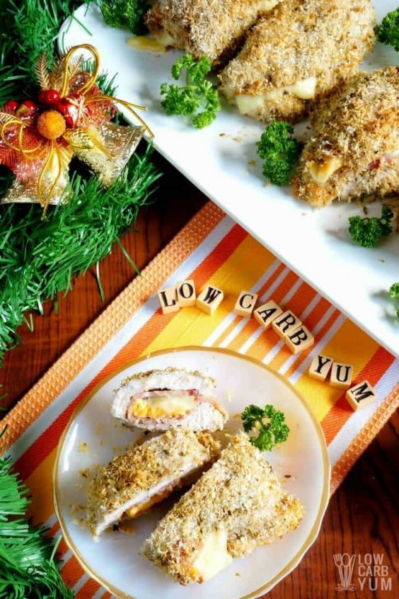 15. Low-Carb Chicken Cordon Bleu #greatist https://greatist.com/eat/keto-chicken-recipes