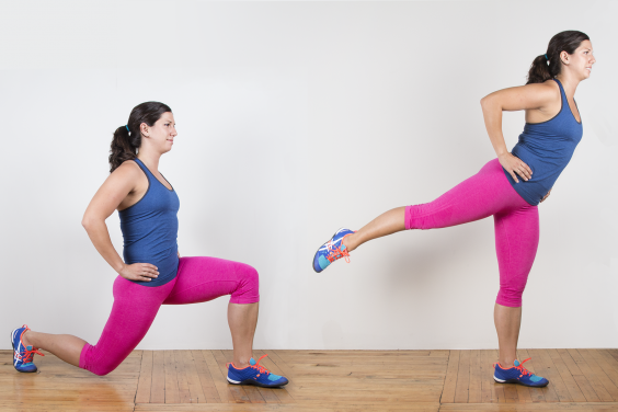 Lunge with Rear Leg Raise