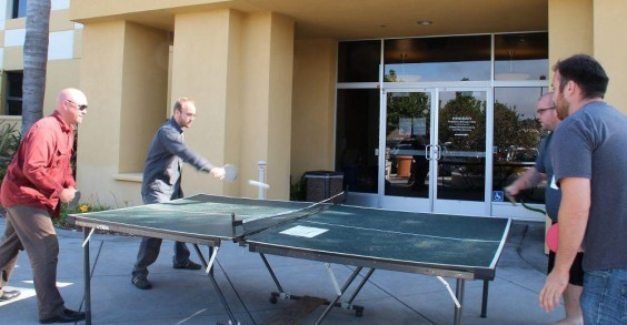 MINDBODY Employees Playing Ping-Pong