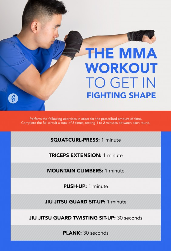 Mixed martial arts training workouts