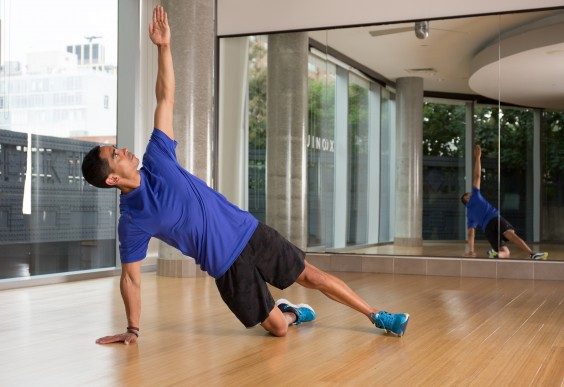 Knee-Down Side Plank Modification