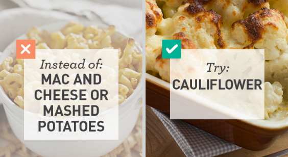Low Carb: Cauliflower for Mac and Cheese or Mashed Potatoes