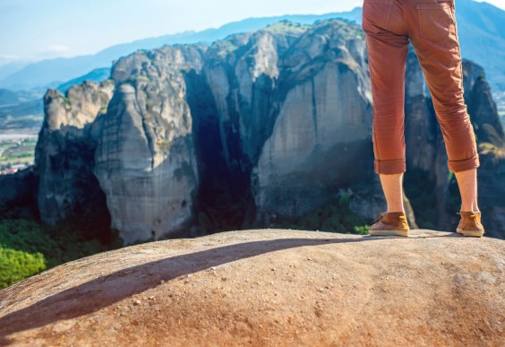 Man Climbing Mountain