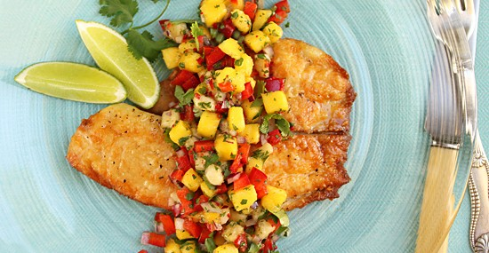 Mango and Banana Salsa With Tilapia