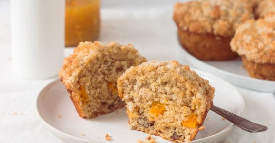 Fresh Mango Muffins With Coconut Streusel