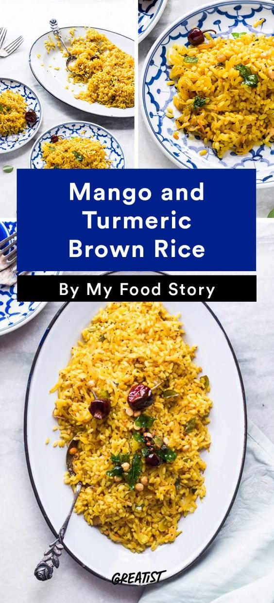 my food story: Mango and Turmeric Brown Rice
