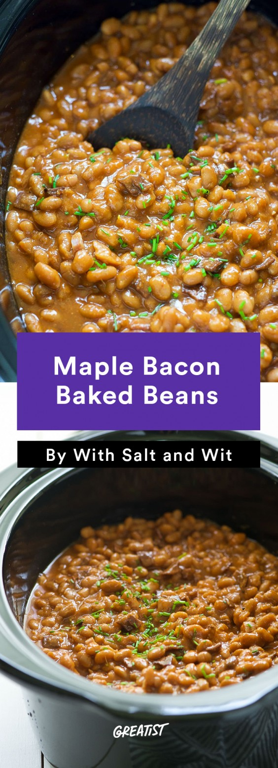 Maple Bacon Baked Beans