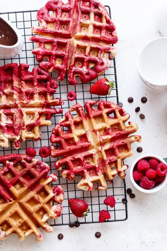 Valentine Breakfast: Waffles