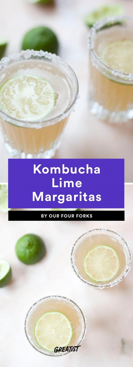 Kombucha Lime Margaritas