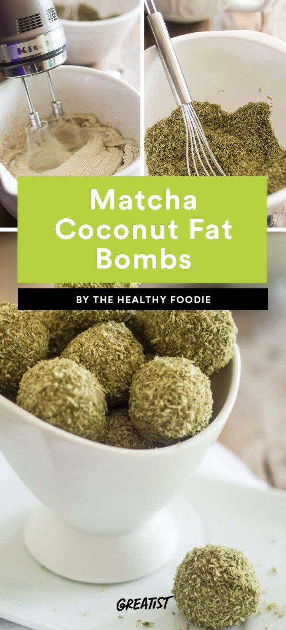 Matcha Coconut Fat Bombs