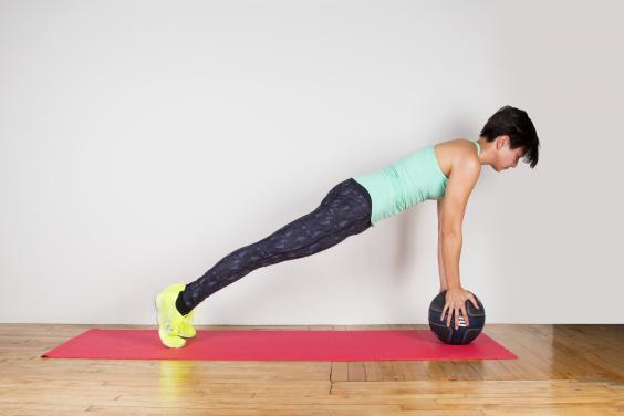 Medicine ball plank