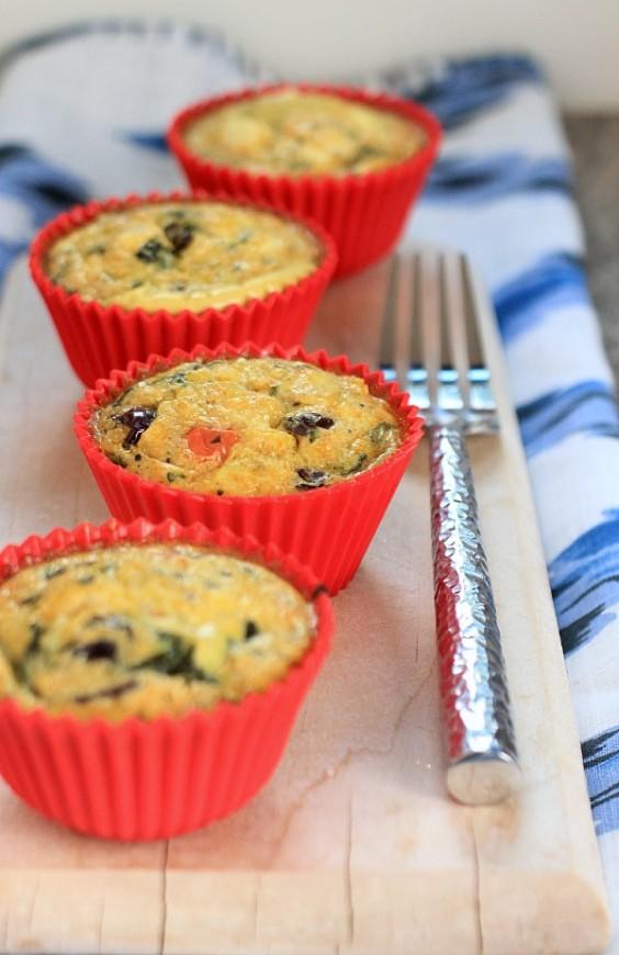 Mediterranean Feta & Quinoa Egg Muffins