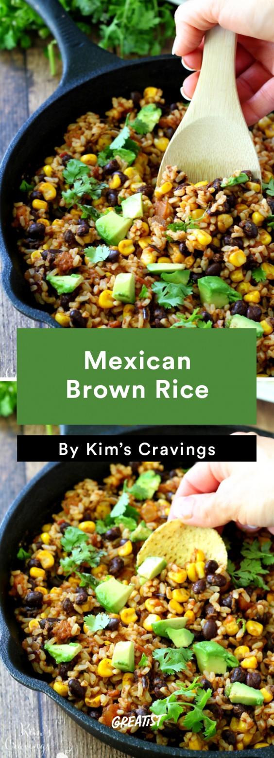 5 min prep vegan dinner: Brown Rice