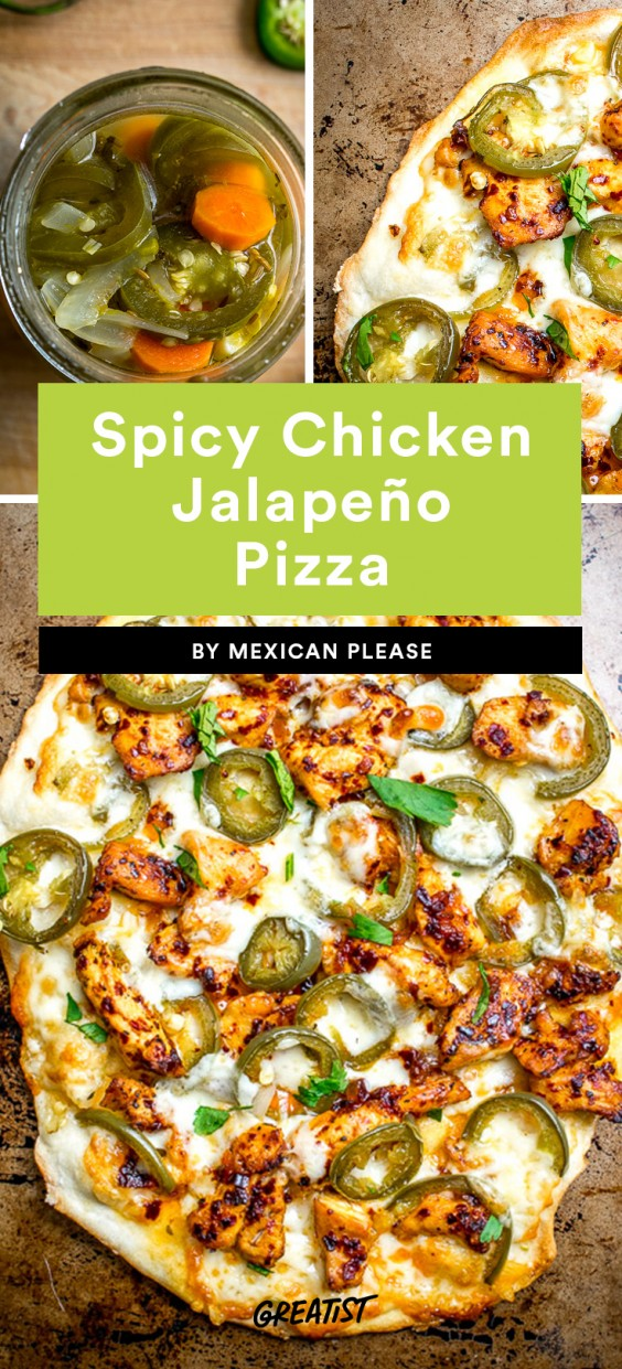 Spicy Chicken and Jalapeno Pizza