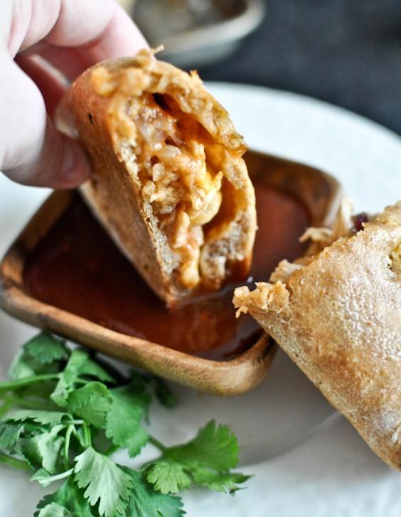 8. Mini Whole-Wheat BBQ Chicken Calzones