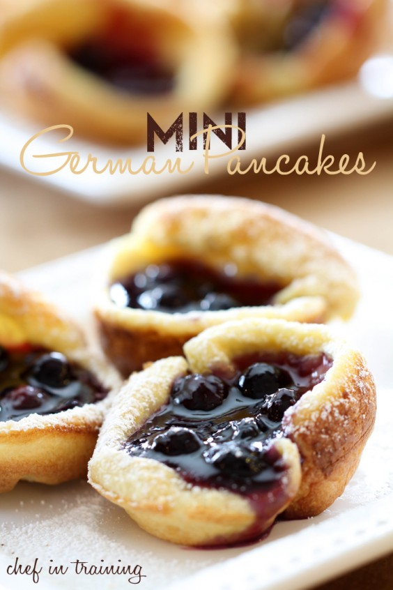 Mini Blueberry German Pancakes