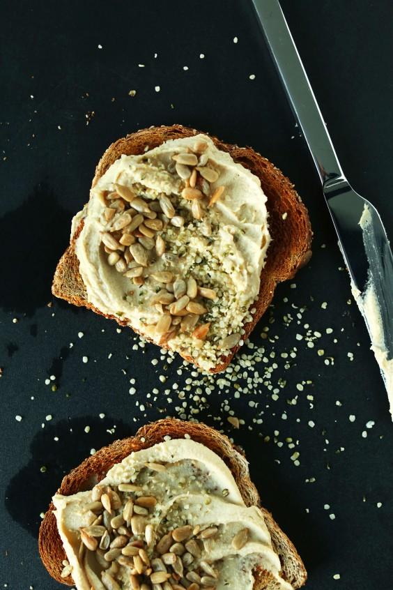 15. Seedy Hummus Toast